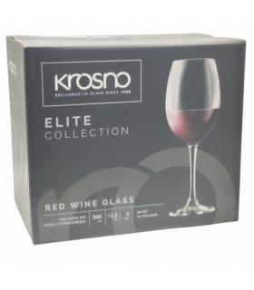 Punase veini pokaal KROSNO 360ml 6tk