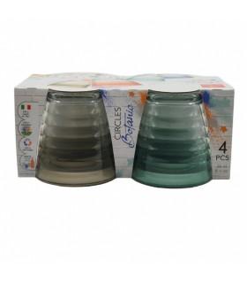 Klaasid Bormioli Rocco - Circles botanic 270ml 4tk