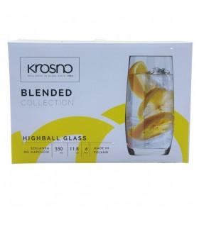 Klaasid KROSNO Highball 350ml 6tk