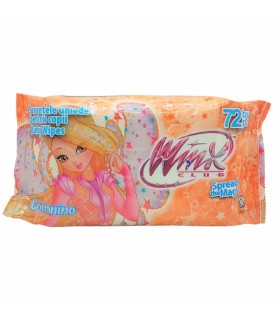 Niisked salvrätikud Winx Oranž 72tk