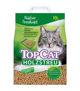 Kassiliiv Top Cat Puidugraanulid kassitualeti jaoks 10L