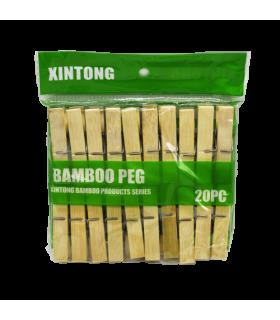Pesulõksud bambusest 20tk