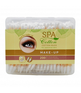 Vatitikud SPA Cotton make-up karbis 200tk