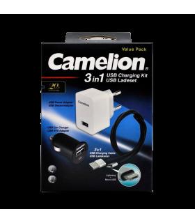 Laadija komplekt USB Camelion 3in1 (Lightning)