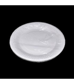 Taldrikud ühekordsed valge 18cm 10tk