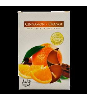 **Teeküünlad Polar kaneeli ja apelsini 6tk