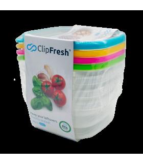 Säilituskarp plastikust Clip Fresh Eazy 430ml 4tk
