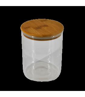 Klaaspurk Bambus kaanega 120x150mm