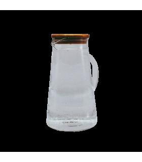 Klaaskann Bambus kaanega 210x120mm