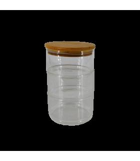 Klaaspurk Bambus kaanega 105x170mm