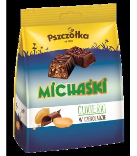 Maapähklikommid šokolaadi täidisega Michaśki 241g