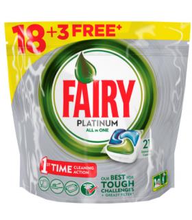 Fairy Platinum nõudepesukapslid 18+3tk