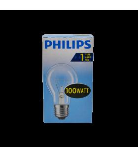 Hõõglamp Philips läbipaistev E27 100W