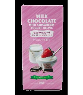 Šokolaad Piima Maasika Jogurti täidisega 100gr