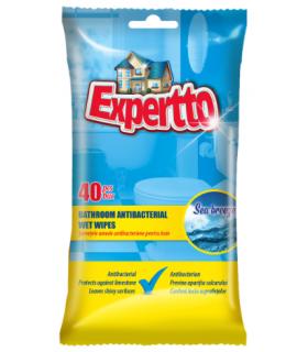 Niisked majapidamislapid Expertto antibakteriaalsed, vannitoa puhastamiseks 40tk