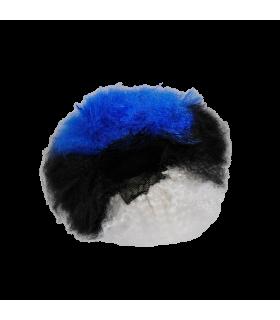 Parukas afro sini-must-valge