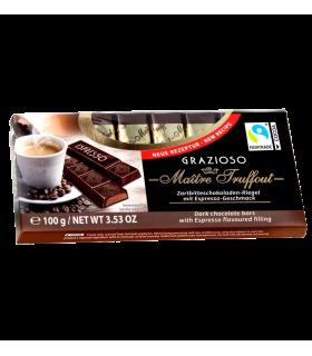 Tume šokolaad espressokreemi täidisega 8x12,5g bar Maître Truffout