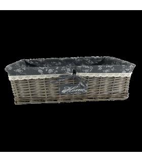 Korv Grey L 46x31x18cm
