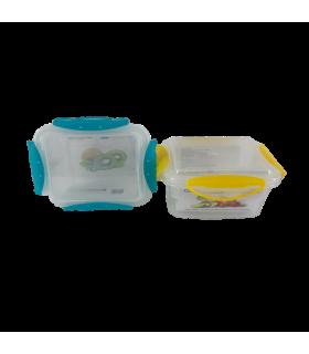 Säilituskarp plastik Clip Fresh kahekordne 111.5x111.5x71mm 400ml