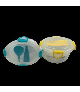 Säilituskarp plastik Clip Fresh kahekordne ø134x95mm