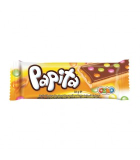 Batoon shokolaadiga kaetud dražeekommide, karamelliga Papita 33g