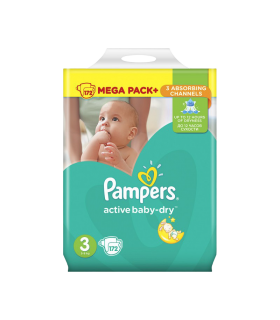 Mähkmed Pampers MegaQuad Plus S3 172tk