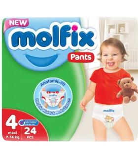 Püksmähkmed MOLFIX PANTS MAXI 24PCS, 7-14 KG
