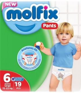 MOLFIX PANTS XL Püksmähkmed 19tk 15-22KG
