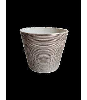 Lillepott valge/pruun triip Ø40.8x34cm