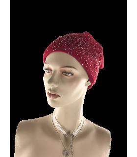 Müts beanie punane kividega