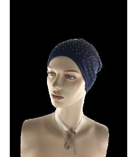Müts beanie sinine kividega