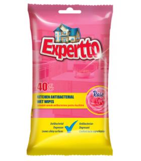 Niisked majapidamislapid kööki Expertto antibakteriaalsed 40tk