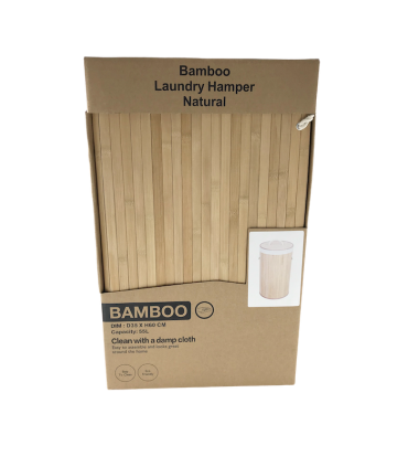 Pesukorv bambus ümar 35xH60cm