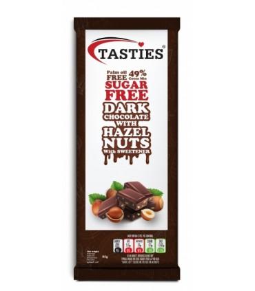 Tume šokolaad pähklitega Tasties suhkruvaba 85g