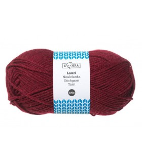 Lõng Kehrä Wool Thread 100g Roll Burgundy