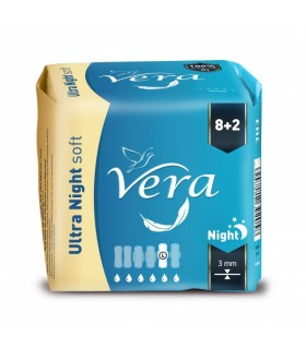Hügieenisidemed VERA Ultra Night soft 10tk