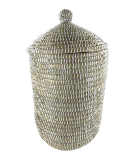 Korv kaanega (Kaisa & recycled plastic) 38x50x25cm