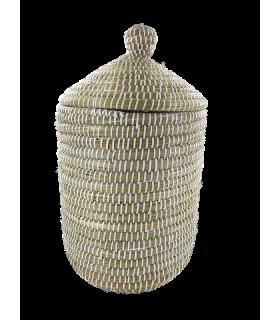 Korv kaanega (Kaisa & recycled plastic) 32x42x20cm