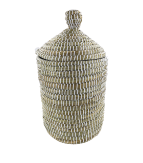 Korv kaanega (Kaisa & recycled plastic) 26x34x15cm