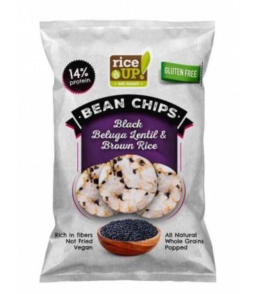 Riisikrõpsud RiceUP! Musta beluga läätsedega 60g
