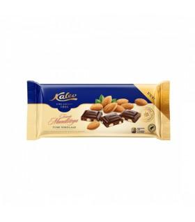 Tume šokolaad Leiger tervete mandlitega  KALEV 200 g