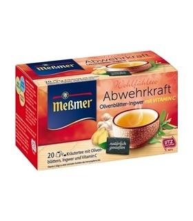 Tee oliiv/ingver +vitamiin c Messmer 20x2g