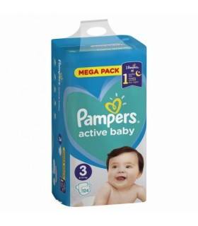 Mähkmed Pampers mega pack S3 124tk