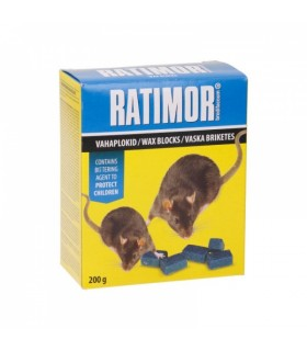 Hiire- ja rotimürk Ratimor vahaplokid karbis 200g