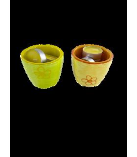 Teeküünlahoidja+5 teeküünalt sidrun