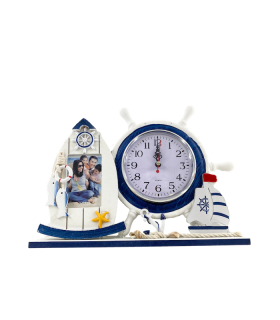 Pildiraam kellaga Meri 28x21cm