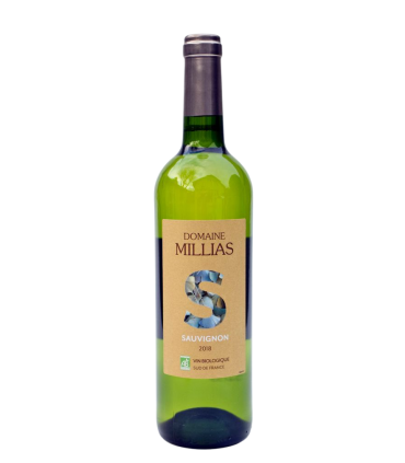 Vein KGT Domaine MILLIAS Sauvignon 2018 BIO valge/kuiv 12.5% 75cl